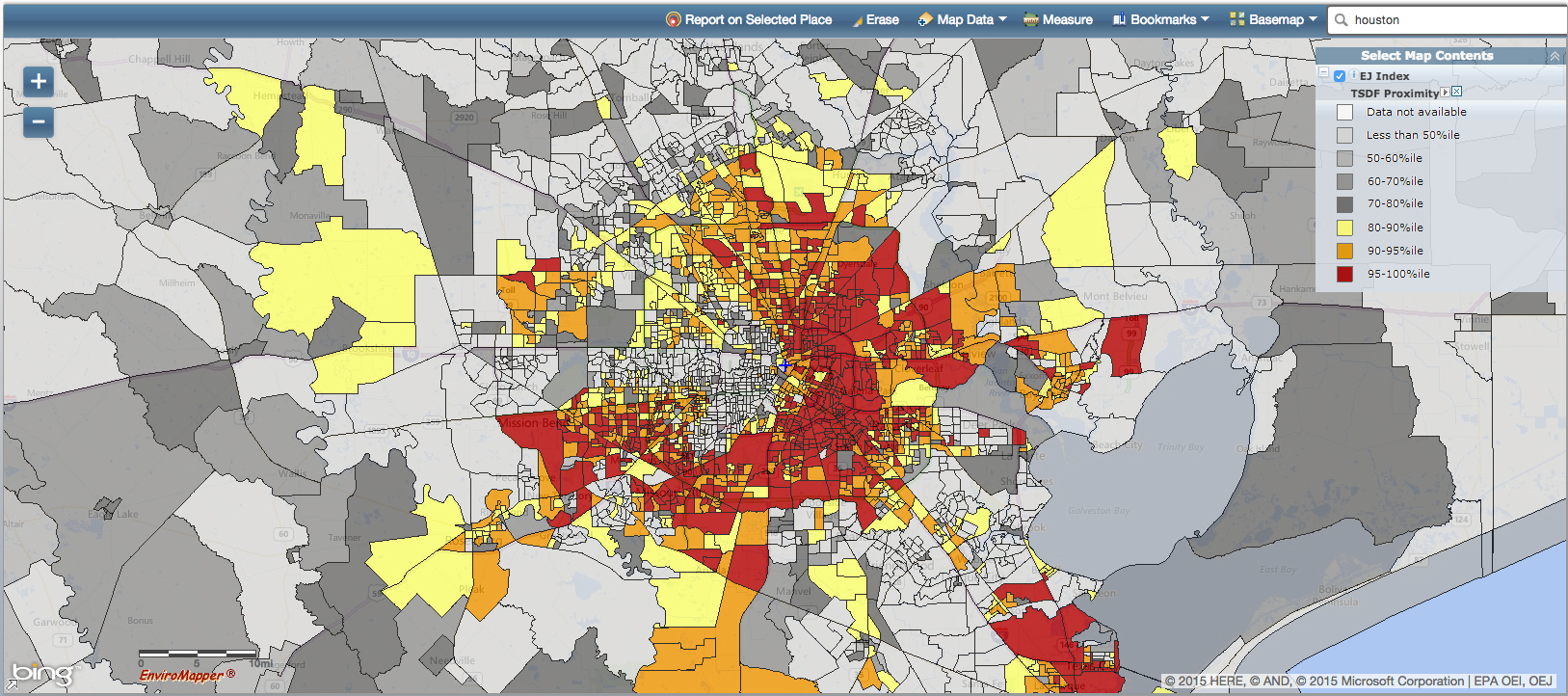 Mapping Environmental Justice EPA goes Spatial