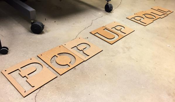 Laser-cut sign by Brian Barr