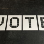 VOTE stencils like Blue Tiles