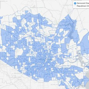 Map of Harris County Precinct Chairs (Republican & Democrat)